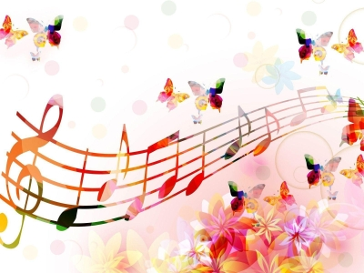 Fantastic Music Notes Background