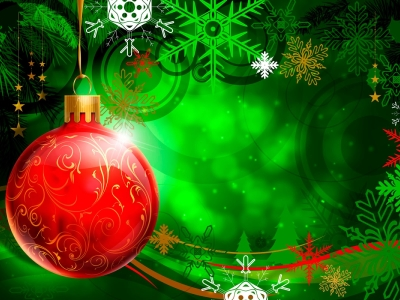 Fantastic Red Green Christmas Background Hd