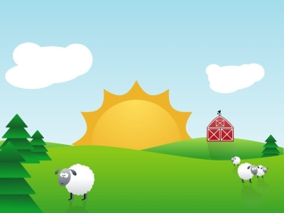 Farm Animal And Nature Background Picture