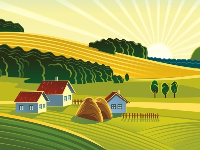 Farm Cartoon Background Picture