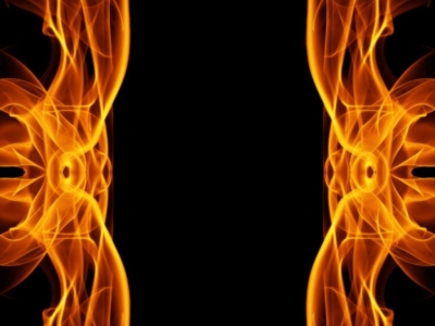 Fire Frame Background