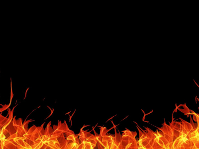 Flame Frame Background Template