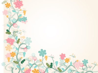 floral border background template #1090