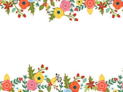 floral border background template #1091