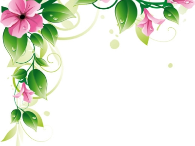 floral border background template #1092
