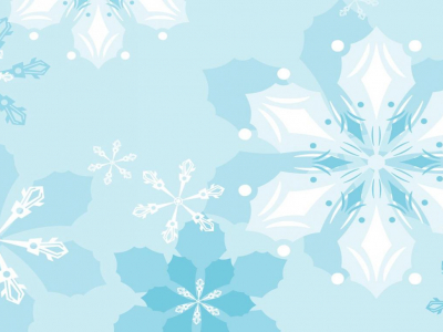 Floral Snowflake Background