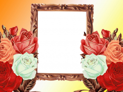Flowers Wedding Photo Frame Background