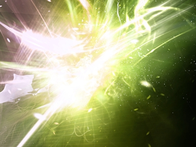 Flyer Background Light Green Abstract