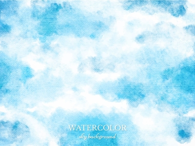 Free Vector Blue Watercolor Sky Background