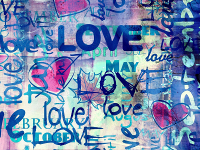 Full With Love Graffiti Wallpaper Image