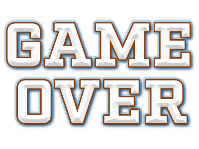 Game Over Png Text
