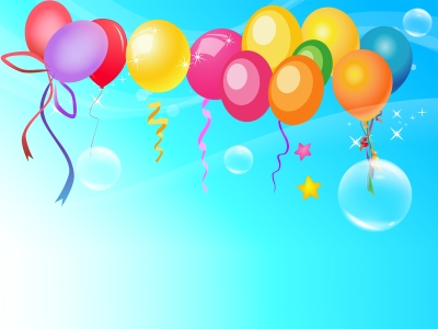 Graphic Of Balloons Ppt Background
