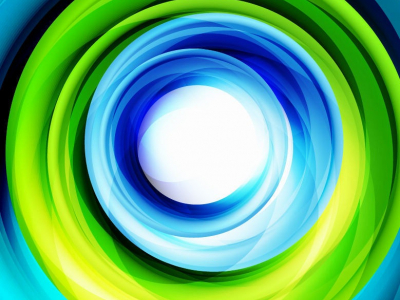 Green And Blue Swirl Background