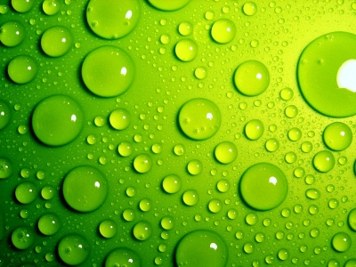 Green Bubbles Wallpaper Background