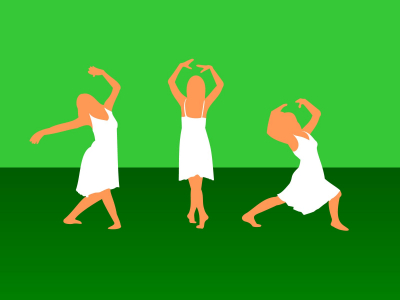 Green Girl Dance Sport Powerpoint Background