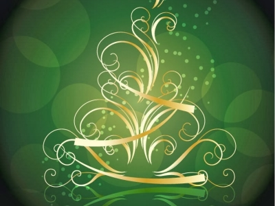 Green Merry Christmas Background Hd