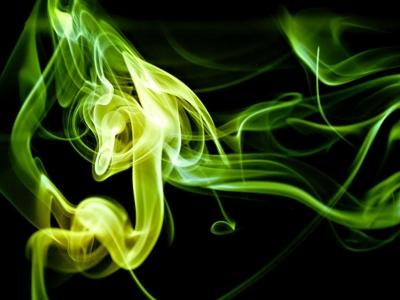 Green Smoke Texture Background Template