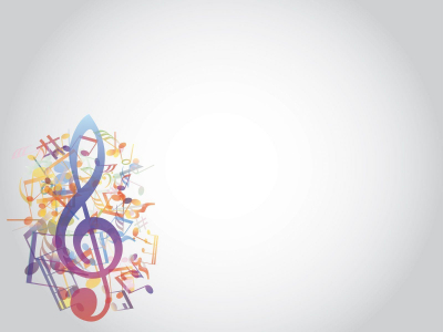 Grey Music Notes Background