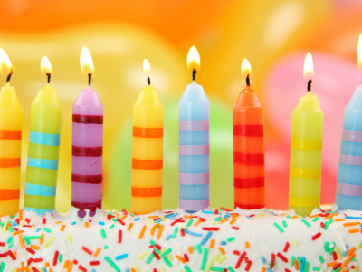 Happy Birthday Candles Ppt Background