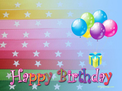 Happy Birthday Background For Ppt
