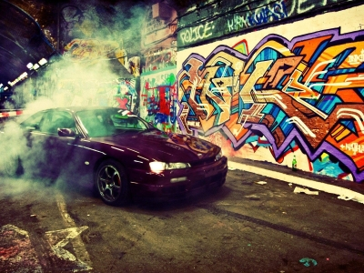 Hd Graffiti Cars Wallpaper