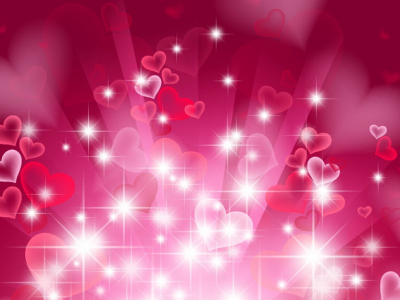 High-quality Hearts Background #1150
