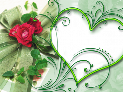 Heart Photo Wedding Frame Background