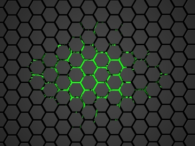 Hex Green Hexagon Background