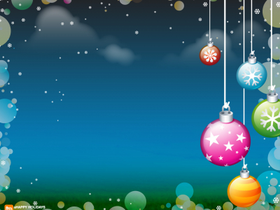 Holiday Ornaments Frame Ppt Background