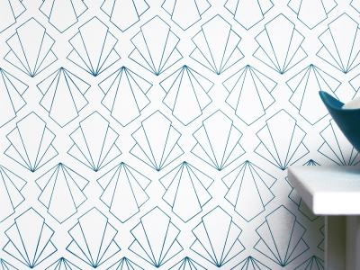 Home Girl Art Deco Wallpaper