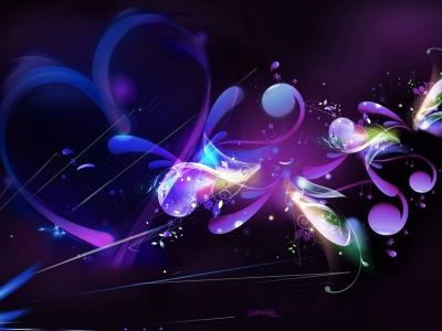 I Love Purple Abstract Wallpaper