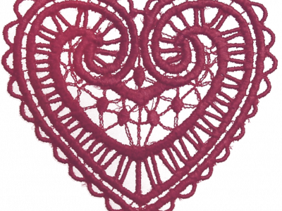 Lace Heart Transparent Clipart Background