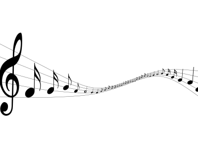 Light Music Note Background