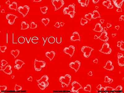 Love You  Red Heart Background