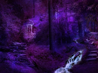 Magic Forest Purple Background