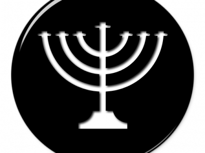 Menorahs Black Circle Icon