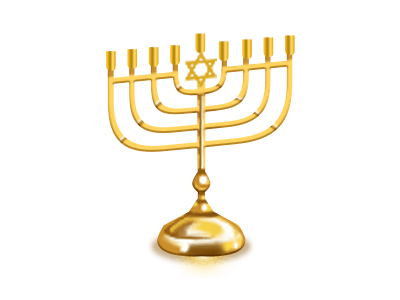 Menorahs Golden Png