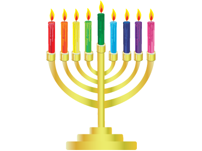 Menorahs Colorful Png
