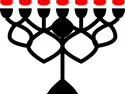 Menorahs Black Red Png