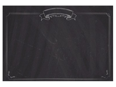 menu list chalkboard background with border #12464
