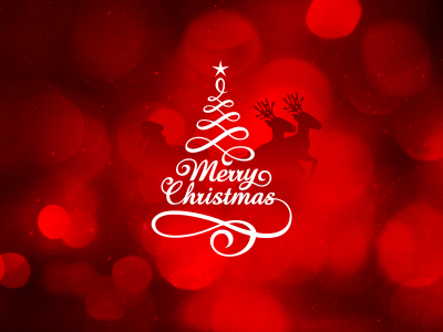 Merry Christmas Dark Background