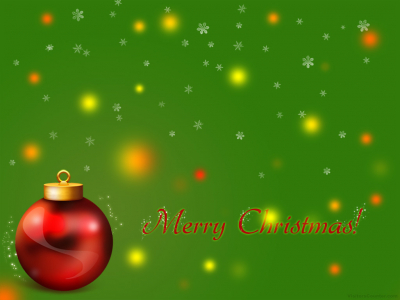 Merry Red Green Christmas Background