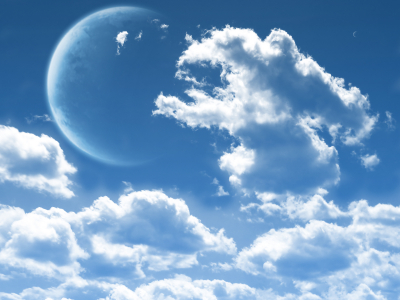 Moon Clouds Background
