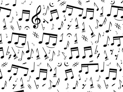 Vintage Background Music Notes #2601