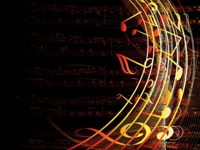 Powerpoint Music Notes Background