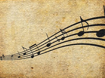 music notes background ppt #2595