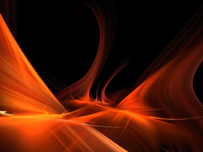 Music On A Black Background With Orange