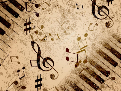 Natural Music Notes Background