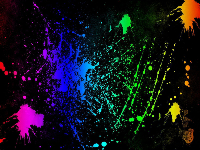 Neon Colors Rock Images Splatter Hd Wallpaper