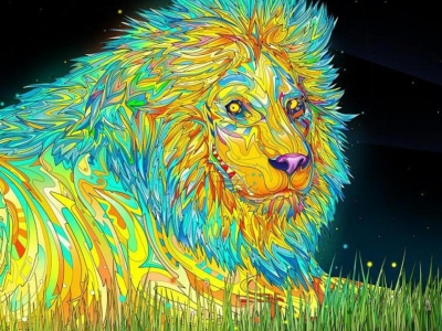 New Lion Psychedelic Backgrounds Hd